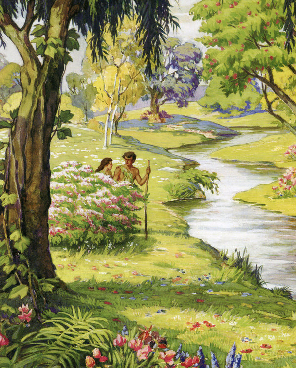 Adam and Eve C - CATHOLIC PRINTS PICTURES