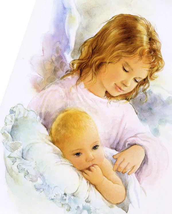 ANGEL WITH CHILD - CATHOLIC PRINTS PICTURES