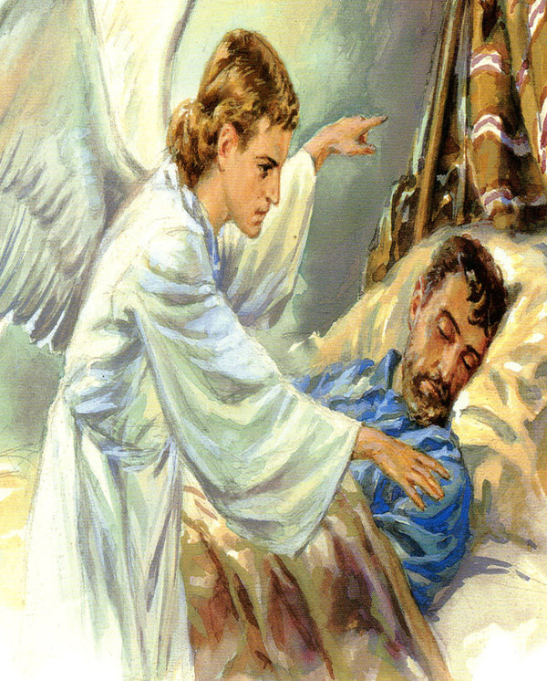 Angel appears to Joseph N - CATHOLIC PRINTS PICTURES