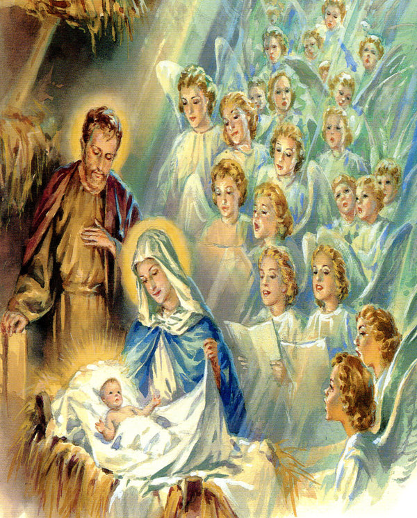 Angels adore Son of God N - CATHOLIC PRINTS PICTURES