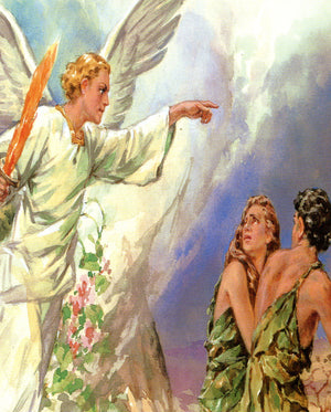 Angel sends Adam and Eve N - CATHOLIC PRINTS PICTURES