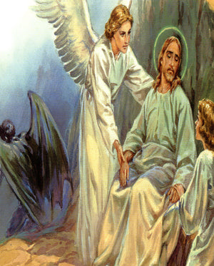 Angel serve Jesus N - CATHOLIC PRINTS PICTURES