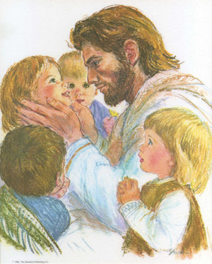 JESUS WITH CHILDREN- CATHOLIC PRINTS PICTURES