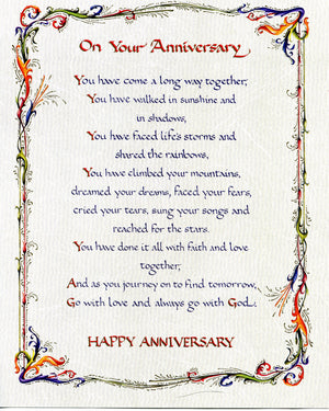 ANNIVERSARY PRAYER - CATHOLIC PRINTS PICTURES