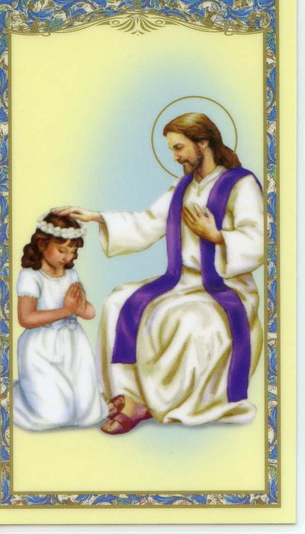 ACT OF CONTRITION GIRL- LAMINATED HOLY CARDS- QUANTITY 25 PRAYER CARDS