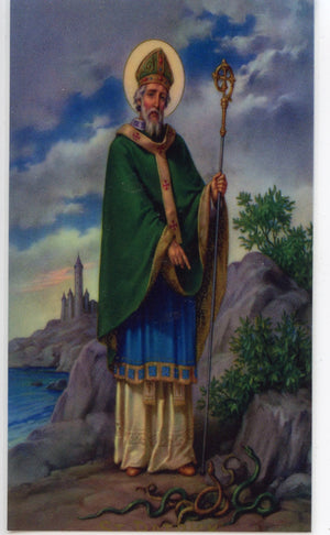 ST. PATRICK'S BREASTPLATE - LAMINATED HOLY CARDS- QUANTITY 25 PRAYER CARDS