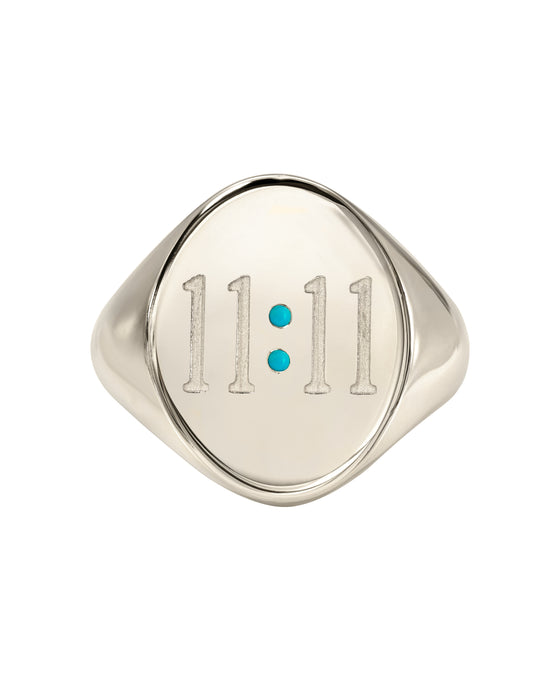 Sterling Silver 11:11 Ring