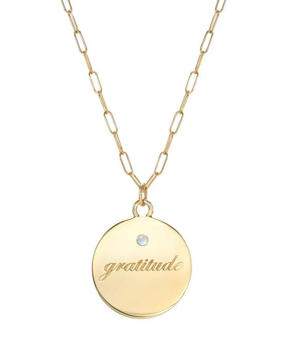 Gold Vermeil Gratitude Necklace