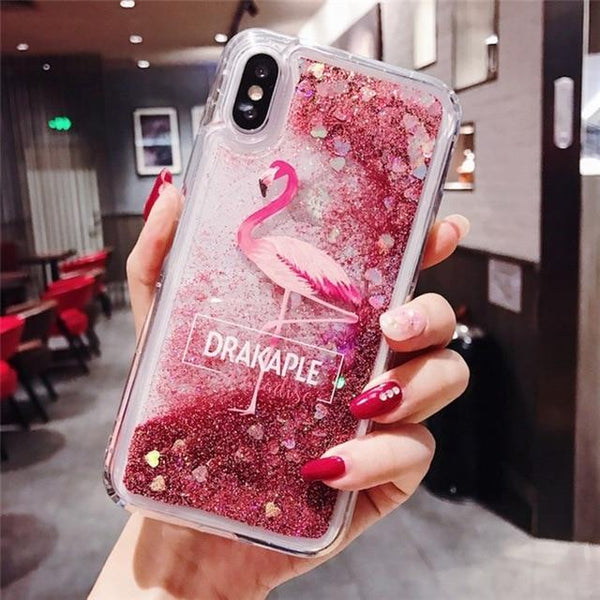 Quicksand Icon Glitter Case For iPhone