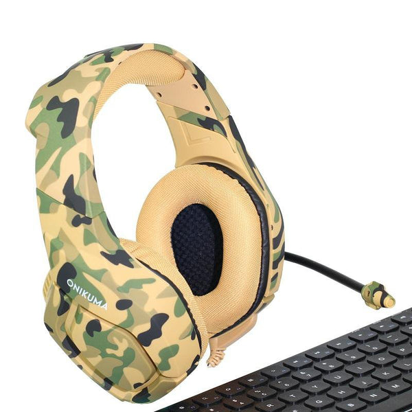 Deep Bass - Camouflage - Noise cancelling Gaming Headset
