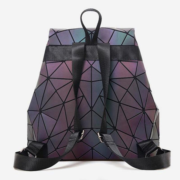 Women Geometric Luminous Backpack