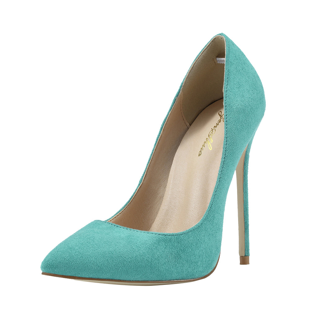 3f8689188fa High Heels Shoes Women Pumps Turquoise High Heels Shoes