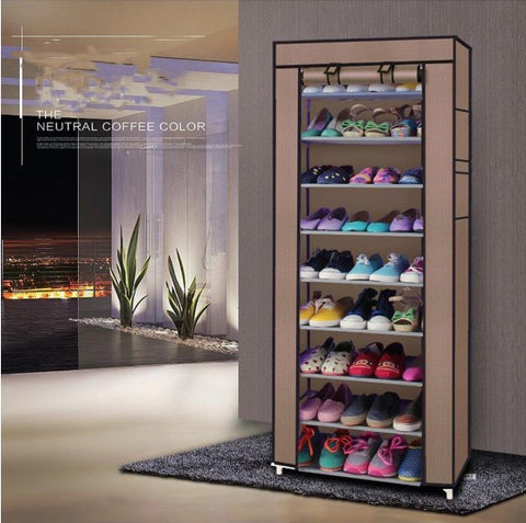 Shoe Rack Storage Cabinet Organizer on the wall