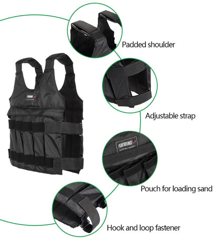 Weighted Workout Vest-features-straps