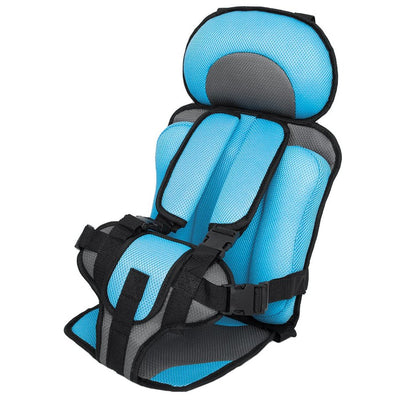 Portable Baby Car Booster Seat For Travel light blue