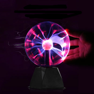 Magic Plasma Static Ball front view with hand