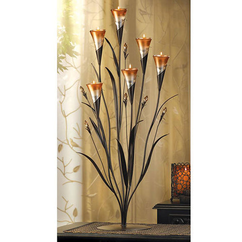 Candle Holder Dawn Flower Stand actual view