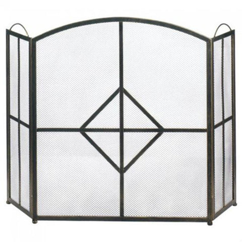 Diamond Fireplace Screen Front Profile