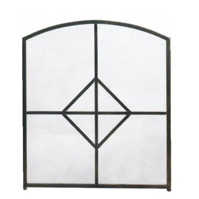 Diamond Fireplace Screen Front Details Profile