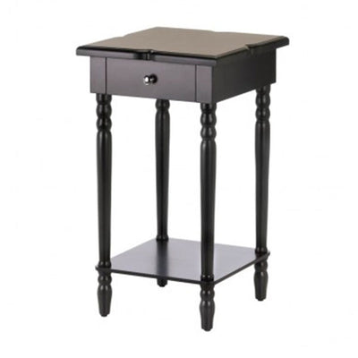 Hampton Black Wood Table Front Profile