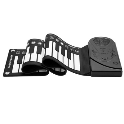Foldable Piano Keyboard Hand Roll Up Out Soft Flexible Silicon