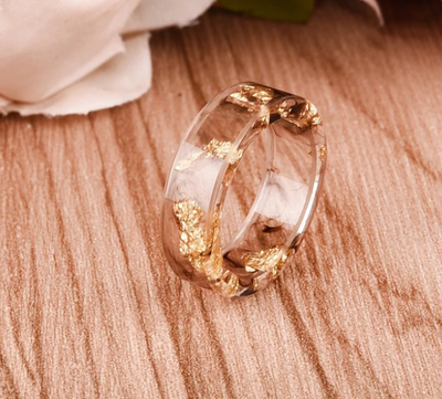 Gold Infused Resin Ring