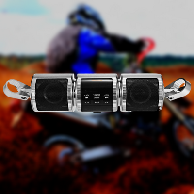 Bluetooth Motorcycle Handlebar Speakers Stereo Sound System - front view