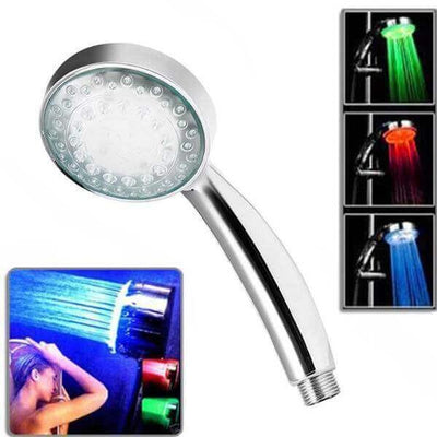 Color Changing LED Shower Head ( No Battery / No Electricity Needed )