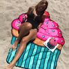 Discounted Beach Blanket Cupcake / One Size Beach Blanket & Cover Up