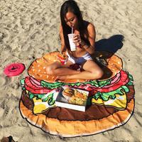Discounted Beach Blanket Hamburger / One Size Beach Blanket & Cover Up