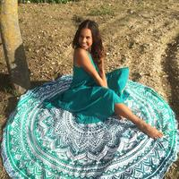 Discounted Beach Blanket Mint Mandala / One Size Beach Blanket & Cover Up