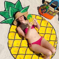 Discounted Beach Blanket Pineapple / One Size Beach Blanket & Cover Up