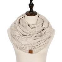 Discounted Cable Knit Infinity Scarf Beige Cable Knit Infinity Scarf