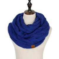 Discounted Cable Knit Infinity Scarf Blue Cable Knit Infinity Scarf