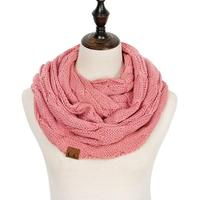 Discounted Cable Knit Infinity Scarf Blush Cable Knit Infinity Scarf