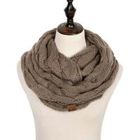 Discounted Cable Knit Infinity Scarf Brown Cable Knit Infinity Scarf
