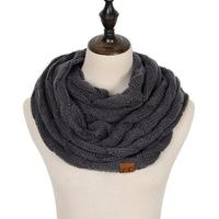 Discounted Cable Knit Infinity Scarf Charcoal Cable Knit Infinity Scarf