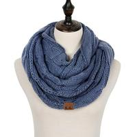 Discounted Cable Knit Infinity Scarf Denim Cable Knit Infinity Scarf