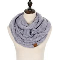 Discounted Cable Knit Infinity Scarf Light Gray Cable Knit Infinity Scarf