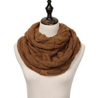 Discounted Cable Knit Infinity Scarf Mocha Cable Knit Infinity Scarf