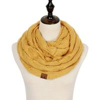Discounted Cable Knit Infinity Scarf Mustard Cable Knit Infinity Scarf