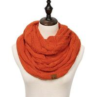 Discounted Cable Knit Infinity Scarf Orange Cable Knit Infinity Scarf