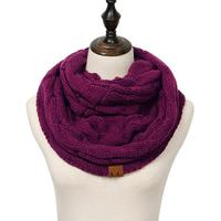 Discounted Cable Knit Infinity Scarf Plum Cable Knit Infinity Scarf