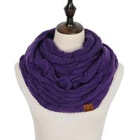 Discounted Cable Knit Infinity Scarf Purple Cable Knit Infinity Scarf