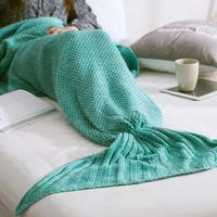 Discounted Home & Kitchen Aqua / 35x67 Inches HANDMADE MERMAID SNUGGLE BLANKET