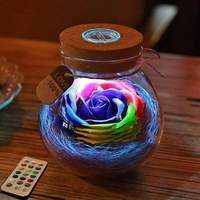 Discounted Lamp Blue Rose Light Bottle