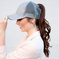 Discounted Ponytail Baseball Cap Grey Ponytail Baseball Cap