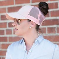 Discounted Ponytail Baseball Cap Pink Ponytail Baseball Cap