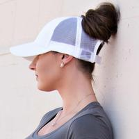 Discounted Ponytail Baseball Cap White Ponytail Baseball Cap