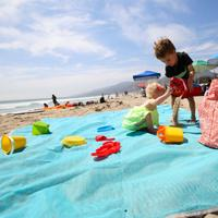Discounted Sand-Proof Beach Mat Blue Sand-Proof Beach Mat
